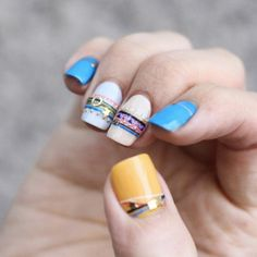 Step up your summer manicure game with bracelet nail art.