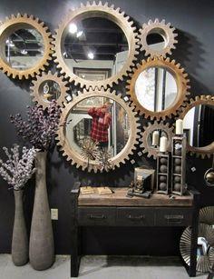 cogwheel mirrors from Mercana