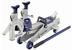 Liftmaster 2 Ton Hydraulic Trolley Floor Jack and Jack Stands Combo Set Stand - 17 in Heavy Gauge SteelFrameProvides Strength and Durability Anti-sink Feet for Added Support & Stability Rust Resistant Finish For Long Life Jack Lifts: in Jack And Jack, Grandpa Gifts, Christmas Gifts For Women, Best Gifts, Flooring, Motor Vehicle, Garden Products, Top, Dodge