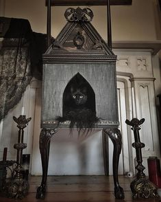 Pinterest: @MagicAndCats ☾ Victorian cat cathedral