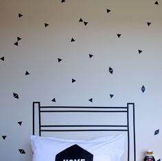 Small Triangle Wall Stickers - Black