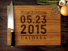 Anniversary Gift, Chopping Block, Parent Wedding Gift, Foodie Gift, Trending Now Personalized We Engraved Wedding Gifts, Custom Wedding Gifts, Personalized Wedding Gifts, Gift Wedding, Wedding Favors, Summer Wedding, Wedding Decor, Engraved Cutting Board, Wood Cutting