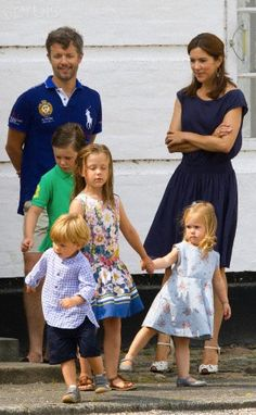 Frederik & Mary with their children at Grasten, July 26, 2013
