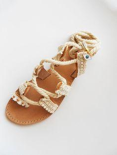 Encaje hasta sandalias, sandalias gladiador, sandalias Boho, boda sandalias, sandalias de cuero, sandalias de novia, griego sandalias, sandalias de mal de ojo