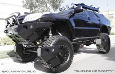 This man converted his Toyota into the ultimate SHTF vehicle and fighting machine. The tires are protected with shields designed to propel debris out of the way. The high clearance of the vehicle will help keep the vehicle off the ground and away from anything that might pose a threat.
