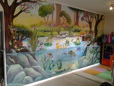 mural disney baby sobre pared lisa murales infantiles. Black Bedroom Furniture Sets. Home Design Ideas