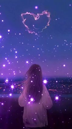 Fairy Wallpaper, Cute Galaxy Wallpaper, Night Sky Wallpaper, Cute Girl Wallpaper, Anime Scenery Wallpaper, Aesthetic Pastel Wallpaper, Cute Wallpaper Backgrounds, Pretty Wallpapers, Sky Anime