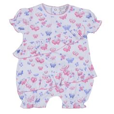 Baby clothes to delight: Kissy Kissy's Butterfly Dreams Print Short Playsuit