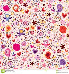 Estampado De Flores Con Los Pájaros Foto de archivo libre de regalías - Imagen: 29913515