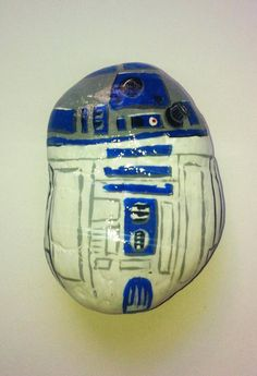 R2D2 Painted Rock by RocksRocks on Etsy, $20.00