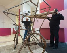 Bicicleta voadora da película 'Sempre Xonxa'. Foto: Manuel G. Vicente