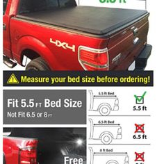 Premium TriFold Tonneau Truck Bed Cover For 0914 Ford NOT Raptor Series wo Utility Track 55 feet 66 inch Trifold Truck Cargo Bed Tonno Cover NOT For Stepside ** Check out the image by visiting the link. Tri Fold Tonneau Cover, Best Truck Bed Covers, Truck Bed Accessories, Lincoln Mark Lt, Astro Van, Passat B6, Ford
