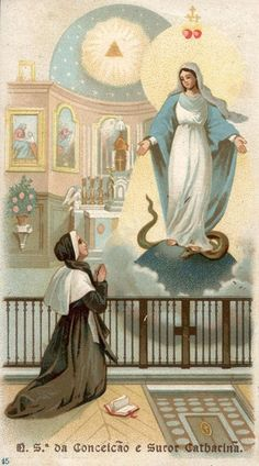 Today is the feast of Our Lady of the Miraculous Medal, which is based on St Catherine Labouré's vision of Mary in Paris in 1830.  The Miraculous Medal is worn by millions of Catholics around the world. It is believed to bring special graces at the hour of death through Mary's intercession.
