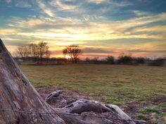 January sunset in Jasper County, MO