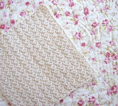 Why is this dishcloth so fast to crochet? It's made in the round from the center out with treble crochet stitches! Treble crochet stitches are nice and big to make