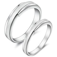 925 sterling silver Wedding Couple Rings Set -  $37.00