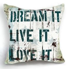 OJIA 18 X 18 Inch Cotton Linen Decorative Inspirational Sayings Throw Pillow Cover Cushion Case