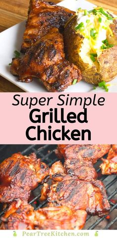 A simple method for creating smoky, moist and tender chicken. Stop being afraid of a charcoal grill and try this method! Grilled Chicken Breast Recipes, Grilled Chicken Tenders, Roasted Chicken Breast, Grilled Chicken Recipes, Best Chicken Recipes, Grill Recipes, Picnic Recipes, Party Recipes, Kitchen Recipes