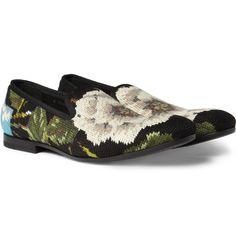 Alexander McQueenNeedlepoint Slippers