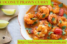 prawn curry or prawn masala recipe – For all the seafood lovers, here is an easy and quick prawn curry recipe that best pairs with any fragrant naan. Prawn Coconut Curry, Coconut Prawns, Curry Shrimp, Fish Curry, Curry Vert, Le Curry, Best Curry Recipe, Curry Recipes, Vegan Recipes