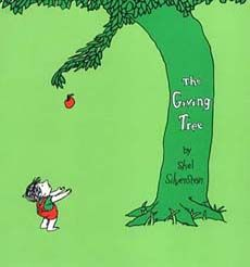 A classic story for teaching generosity and the joy of giving. A tree loved a little boy and  was happy whenever he'd come eat her apples and swing on her  tree. As he grew into a man, the tree continued to sacrifice anything she had for him. In the end, all the tree had left was a stump, but that was all the boy--now an old man--needed anyway.