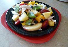 Gyümölcssaláta csirkehússal Fruit Salad, Food, Fruit Salads, Eten, Meals, Diet