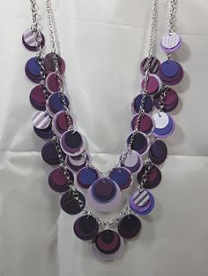 Paper Necklace in Purple from beccasblend by beccasblend on Etsy
