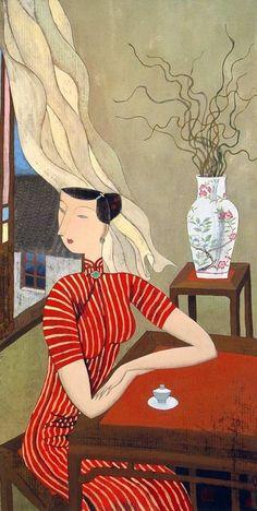 theantidote:  Afternoon Tea by Hu Yongkai more here