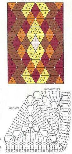 Triangle granny blanket