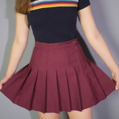 American Apparel tennis skirt in true blood American Apparel tennis skirt in the color true blood. So cute but sadly doesn't fit me. Barely worn.  American Apparel Skirts
