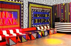 Vibrant Colour And Bold Pattern - CAMILLE WALALA is purveyor of positivity, expressed through vibrant colour and bold pattern. Memphis Design, Conception Memphis, Best Clubs In London, Camille Walala, Art Fund, Modern Artists, Work Inspiration, Dream Decor, Art Festival