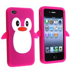 Pink Penguin Cute Silicone Case Cover for iPhone 4 4S 4GS | eBay
