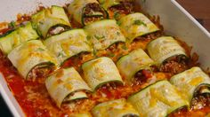 Zucchini Taco Roll-Ups  - Delish.com Omit meat and cheese, add black beans or lentils for Daniel fast friendly
