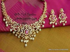 Ruby and Diamond necklace r and earrings