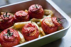 Rachel Roddy's Roman-Style Stuffed Tomatoes With Rice recipe on Food52