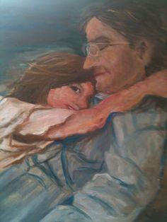 Pounce.  Oil on canvas 50x40cm.