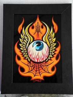 Harley Tattoos, Pinstripe Art, Flame Art, Simple Cartoon, Rat Fink, Garage Art, Witch Art, Arte Horror, Lowbrow Art