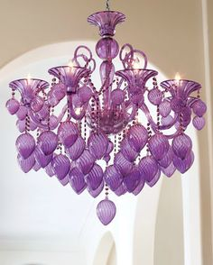Aesthetic Oiseau: Purple Chandeliers