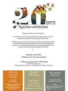 #BUZZ Le teaser des #20ansRc ! Partagez ! Share it! http://vimeo.com/115447905 Célébration de 20 ans d'amitié le samedi 6 juin 2015 à Paris ∞ 20th anniversary of Racines coreennes by June 6th, 2015 > Plus d'information sur : http://www.racinescoreennes.org/2014/09/01/les-20-ans-de-racines-coreennes-en-2015/  ♡ Votre soutien par ADHÉSION / DON : Racines coréennes est votre association ♡