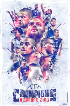 Poster made for the European Champion French basketball team.