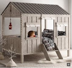 https://www.etsy.com Sending a child to his/her room for punishment may not be such a good idea with this custom made loft bed. Children would be happy to be in their