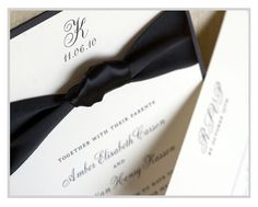 """Stardust"" invitation by bt elements is great for a black tie wedding"