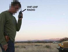 Militant at Nevada 2014 standoff uses VHF UHF radio to coordinate forces Portable Ham Radio, Survival Skills, Survival Stuff, Radio Frequency, Helpful Hints, Nevada, Digital, Ham Radio, Useful Tips
