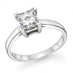 3/4 Carat Princess Solitaire Engagement Ring