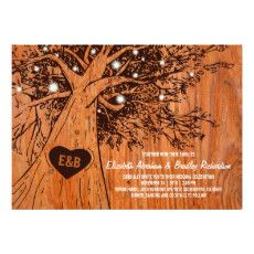 RUSTIC COUNTRY WEDDING | OAK TREE CARD  #RUSTIC #COUNTRY #WEDDING #INVITATIONS #MARRIAGECARDS #STRINGOFLIGHTS #OAKTREE