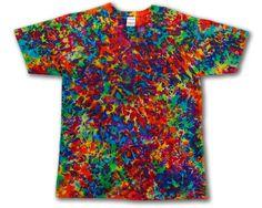 Tie Dye • Large • Purple Rainbow Chaos T-Shirt • 100% Cotton • 2Dye4