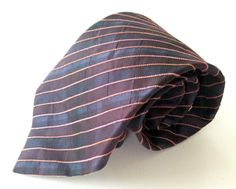 Joseph Abboud Neck Tie Purple Blue Pink Striped MADE IN ITALY Silk Cotton Blend #JosephAbboud #NeckTie