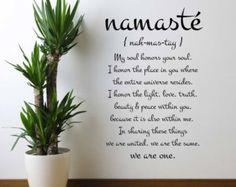 Namaste Definition Quote Vinyl Decal by ScriptumVinyl on Etsy – Yoga Expert Meditation Room Decor, Meditation Space, Yoga Meditation, Namaste Definition, Definition Quotes, Home Yoga Room, Zen Room, Namaste Quotes, Yoga Quotes
