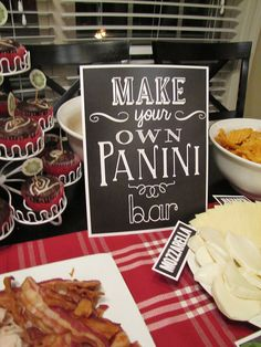 Make Your Own Panini Bar party. Keeping Up with the Joneses www.kendallandkeith.com