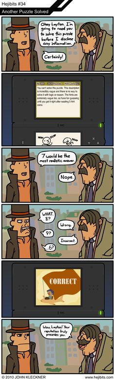 Another puzzle solved! I love the Layton games. Never found them that difficult though.
